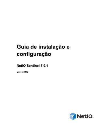 Guia de instalação e configuração do NetIQ Sentinel 7.0.1