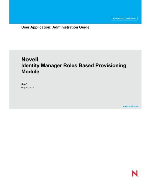 Identity Manager User Application: Administration Guide - NetIQ