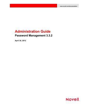 Novell Password Management 3.3.2 Administration Guide - NetIQ