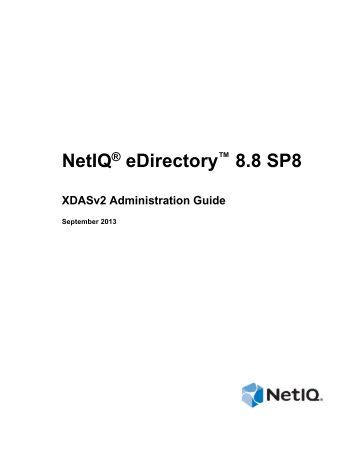 Novell XDASv2 Administration Guide - NetIQ