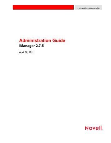 Novell iManager 2.7.5 Administration Guide - NetIQ