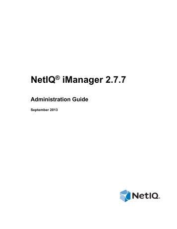 Novell iManager 2.7.6 Administration Guide - NetIQ