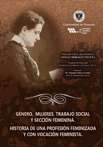 Género, mujeres, trabajo social y sección femenina: historia de una ...