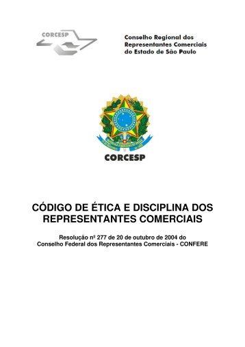código de ética e disciplina dos representantes comerciais - Corcesp