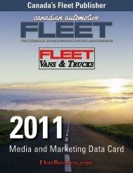 VANS & TRUCKS Media and Marketing Data Card - Fleet Business