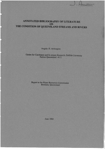 annotated-bibliography-literature-condition ... - South West NRM