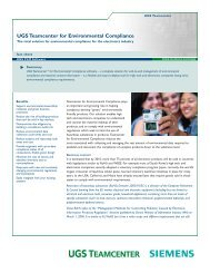 Teamcenter for Environmental Compliance for the electronics industry