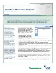 Teamcenter for MRO: In-Service Management