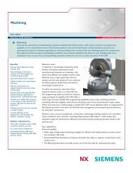 NX Machining Fact Sheet