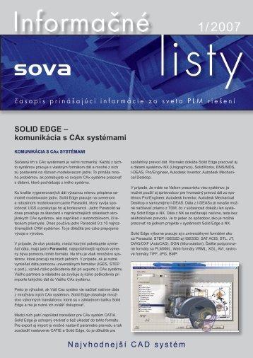 časopis prinášajúci informácie zo sveta PLM riešení SOLID EDGE ...