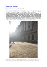 Universität Breslau - Fakultät für Sozialwissenschaft der Ruhr ...