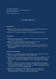 Ausgewählte Publikationen - Fakultät für Sozialwissenschaft der ...