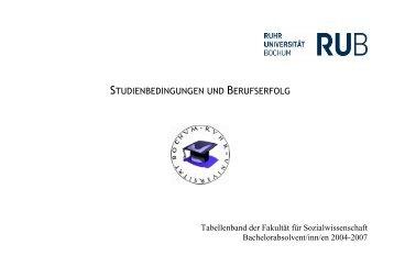 STUDIENBEDINGUNGEN UND BERUFSERFOLG - Fakultät für ...