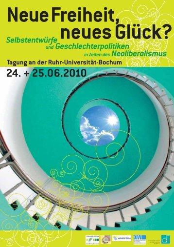 Programm - Fakultät für Sozialwissenschaft der Ruhr-Universität ...