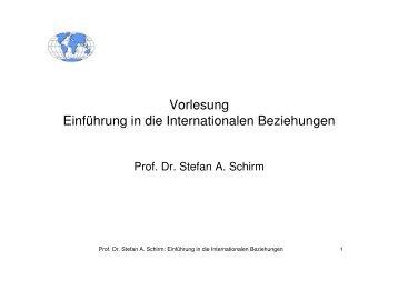 Vorlesung Einführung in die Internationalen Beziehungen