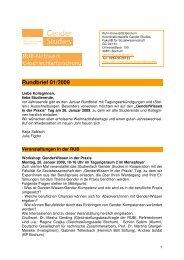 Rundbrief 01/2009 - Fakultät für Sozialwissenschaft der Ruhr ...