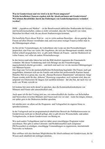 Barbara Budrich (Budrich Verlag) ( kB) - Fakultät für ...
