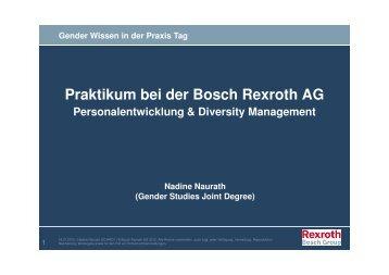 Nadine Naurath (Praktikum Bosch Rexroth)