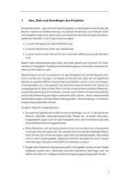 1 Idee, Ziele und Grundlagen des Projektes - Fakultät für ...