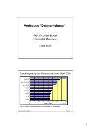 """Vorlesung """"Datenerhebung"""" - Sowi - Universität Mannheim"""