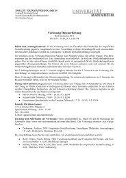 Vorlesung Datenerhebung - Sowi