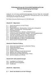 Prüfungsordnung der Universität Heidelberg für den