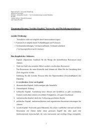 Zusammenfassung: Soziales Kapital, Netzwerke und ...