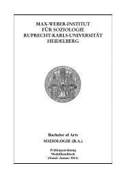 MODUL BASoM 1 - Institut für Soziologie - Ruprecht-Karls ...