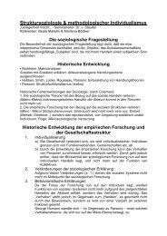 Struktursoziologie & methodologischer Individualismus