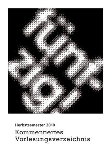 KVV HS 2010 (pdf, 462KB) - Institut für Soziologie - Universität Bern
