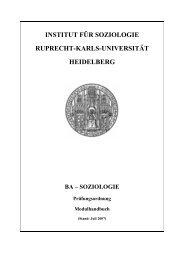 Institut für Soziologie - Ruprecht-Karls-Universität Heidelberg