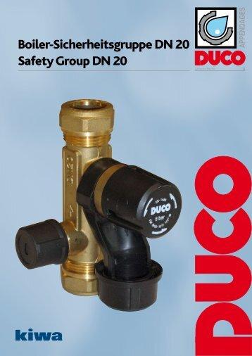 Boiler-Sicherheitsgruppe DN 20 Safety Group  DN 20 - Duco
