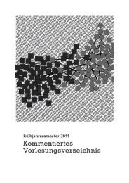 KVV FS 2011 (pdf, 1.5 MB) - Institut für Soziologie - Universität Bern