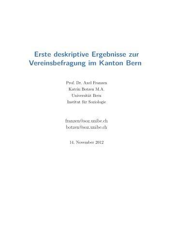 Text als PDF - Institut für Soziologie - Universität Bern