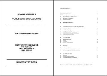 KVV HS 1998 (pdf, 133KB) - Institut für Soziologie - Universität Bern