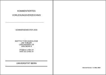 KVV FS 2000 (pdf, 186KB) - Institut für Soziologie - Universität Bern