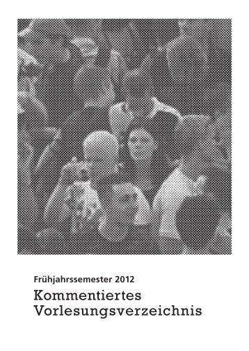 KVV FS 2012 (pdf, 5.4 MB) - Institut für Soziologie - Universität Bern