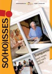12. Ausgabe – Transparenz nach innen und außen, Dez. 2007