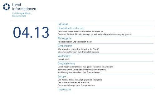 Editorial Gesundheitswirtschaft Philosophie Gesellschaft Wirtschaft ...
