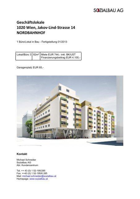 Geschãftslokale 1020 Wien Jakov Lind Strasse 14 Sozialbau