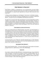 Elder Mediation in Österreich - Soziale Arbeit