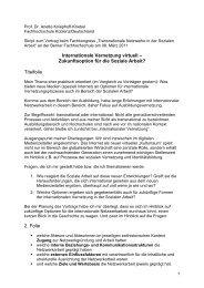 Referat - Soziale Arbeit - Berner Fachhochschule