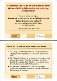 Kooperation und Fusion im Public Management - Soziale Arbeit ...