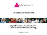 Birgitta Martensson: Mediation und Demenz - Soziale Arbeit