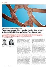 Transnationale Netzwerke in der Sozialen Arbeit: Rückblick auf den ...