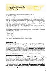 Einsatzstellenrundmail August 2012 - Fachstelle Freiwilligendienste ...