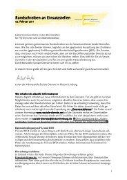 Einsatzstellenrundbrief 2011-02 - Fachstelle Freiwilligendienste im ...