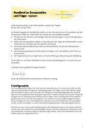 2011-10 Einsatzstellenrundbrief - Fachstelle Freiwilligendienste im ...