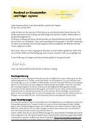 Einsatzstellenrundmail 2012-03 - Fachstelle Freiwilligendienste im ...