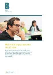 Weiterbildungsprogramm 2013 | 2014 - Soziale Arbeit - Berner ...